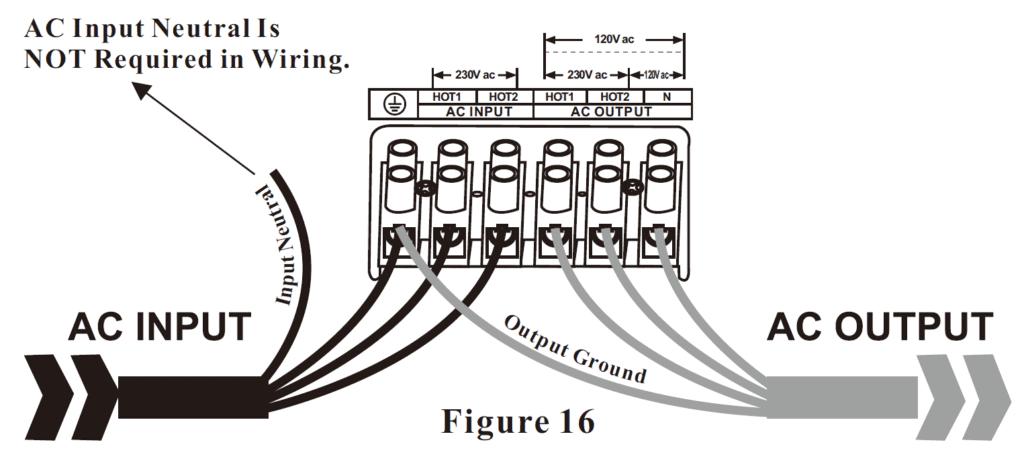 120V 240V split phase inverter AC wiring