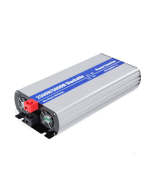2500 Watt 24V DC to 110V 120V Modified Sine Wave Stackable Power Inverter