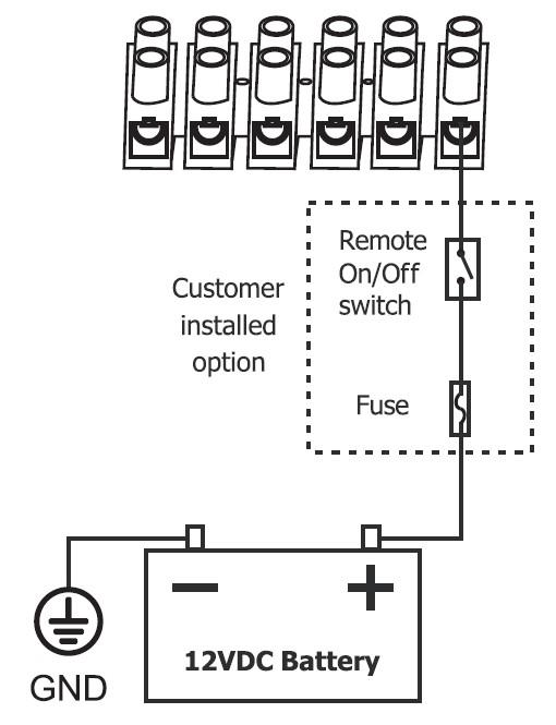 12 remote wiring